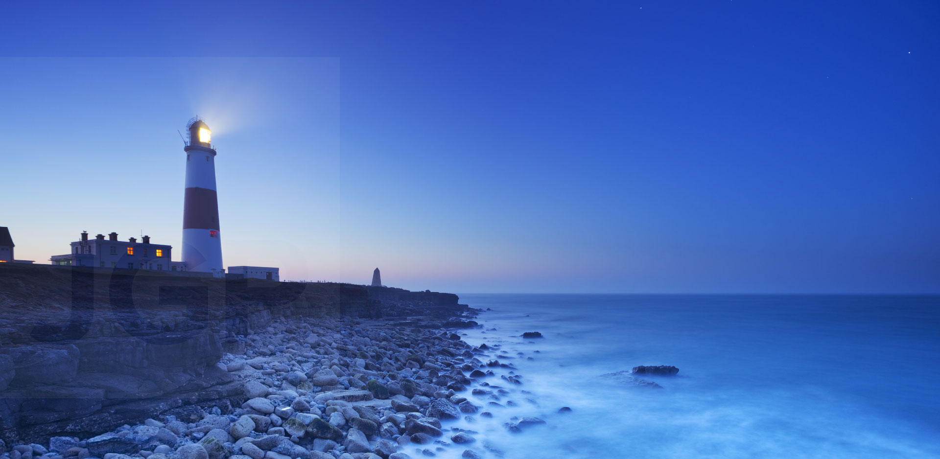 Lighthouse overlooking the sea