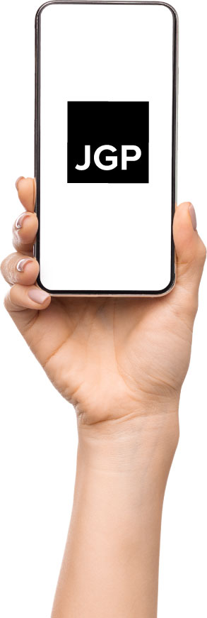 Image of person holding up a mobile phone
